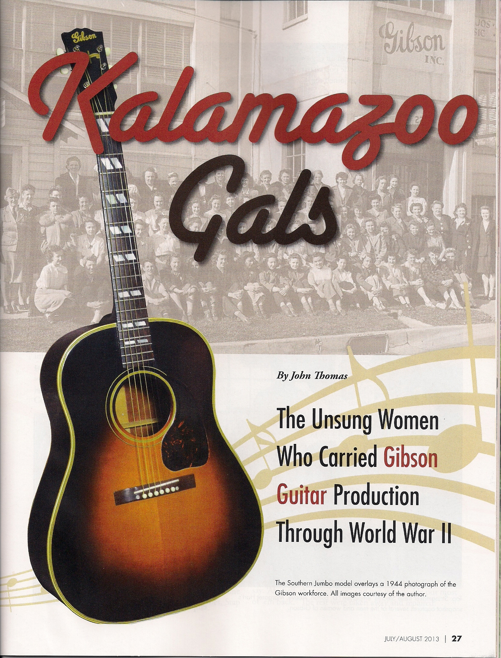 Kalamazoo Gals in Michigan History Magazine 2012
